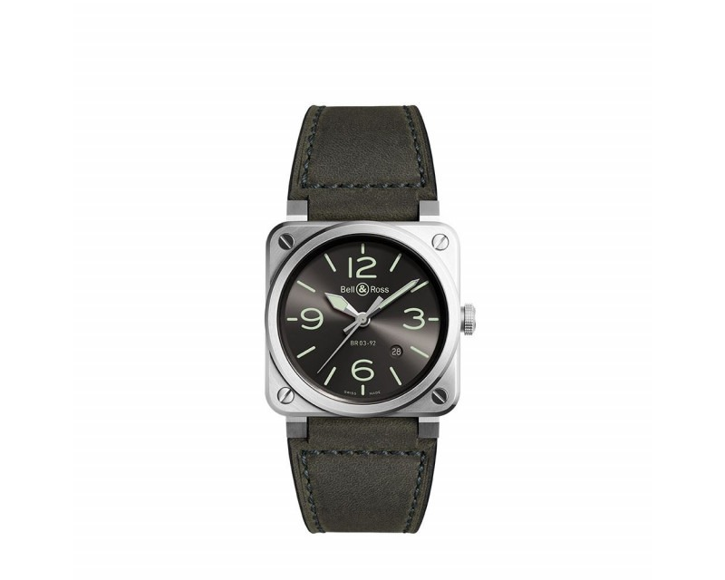Montre BELL &  ROSS BR0392 Grey Lum