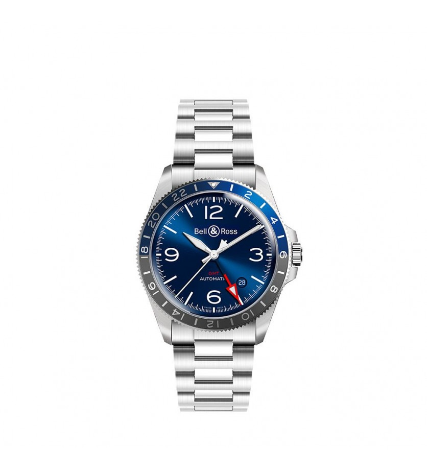 Montre BELL & ROSS BRV293 GMT Blue