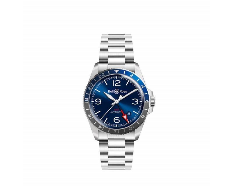 Montre BELL & ROSS BRV293 GMT Blue
