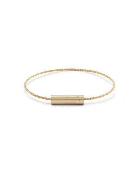 Bracelet Câble 7 Grammes or jaune lisse brossé