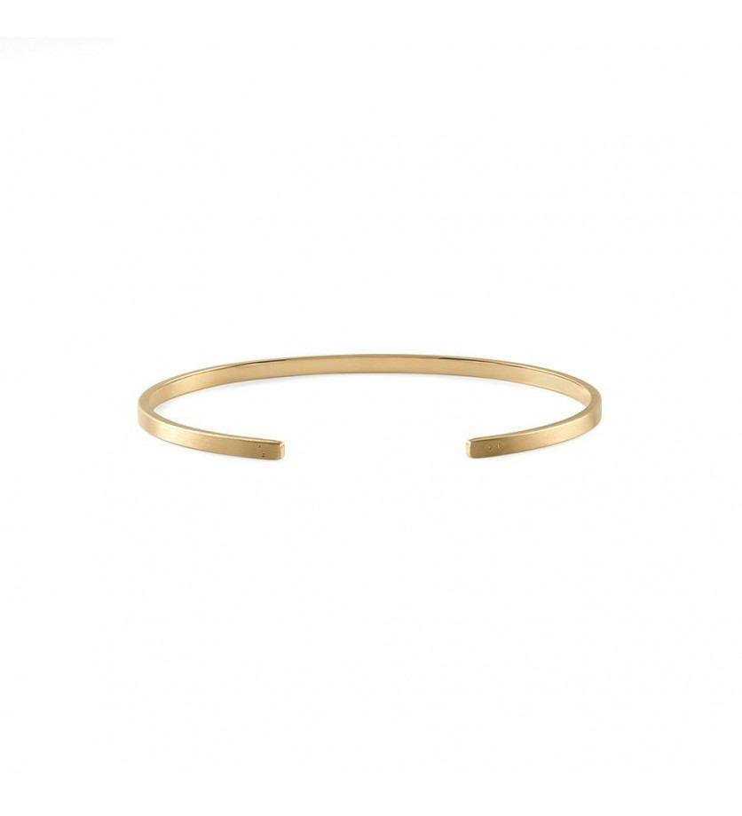 Bracelet Ruban 7 Grammes or jaune lisse brossé Largeur 2.5 mm, taille M