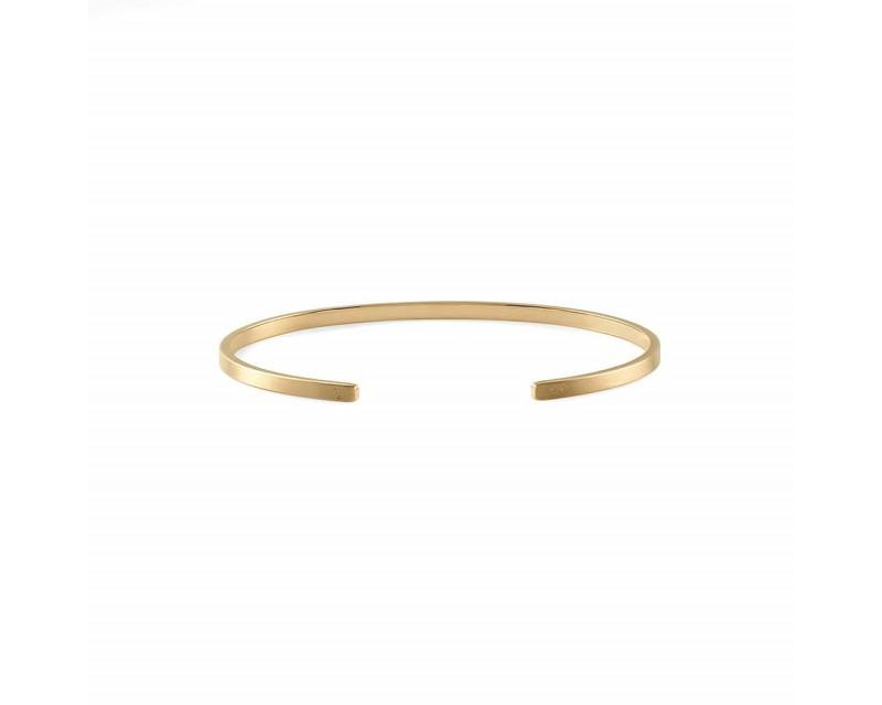 LE GRAMME Bracelet Ruban 7 Grammes or jaune lisse brossé Largeur 2.5 mm, taille M