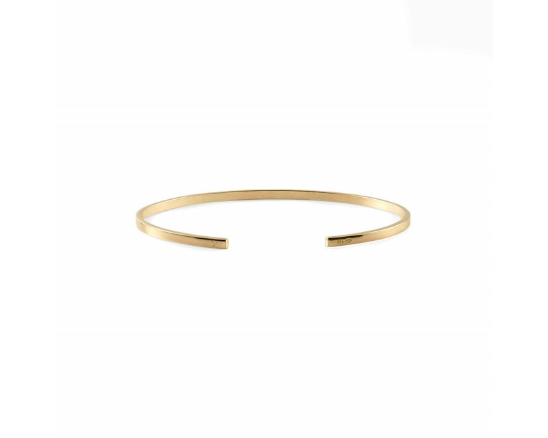 Bracelet Ruban 7 Grammes or jaune lisse poli