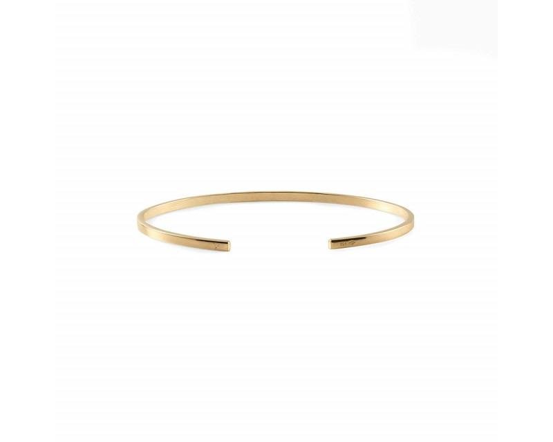 LE GRAMME Bracelet Ruban 7 Grammes or jaune lisse poli Largeur 2.5 mm, taille S
