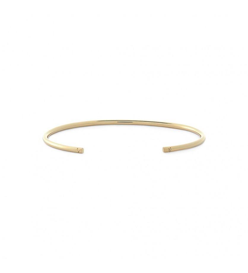 Bracelet Jonc 9 Grammes or jaune lisse poli