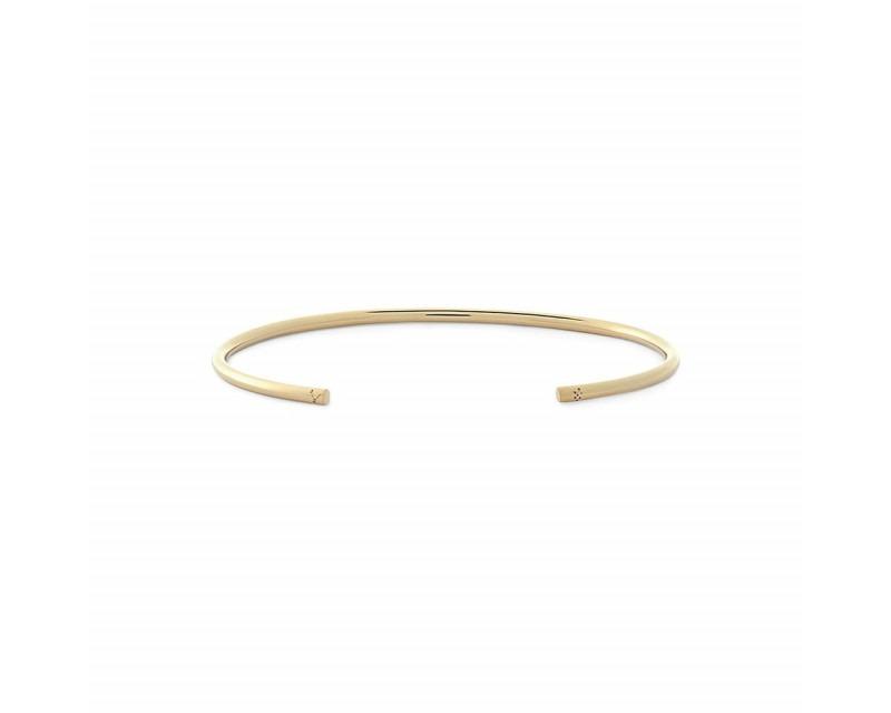 LE GRAMME Bracelet Jonc 9 Grammes or jaune lisse poli Epaisseur 2.3 mm, taille S