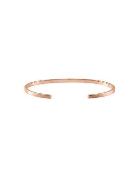 Bracelet Ruban 7 Grammes or rouge lisse brossé, taille L