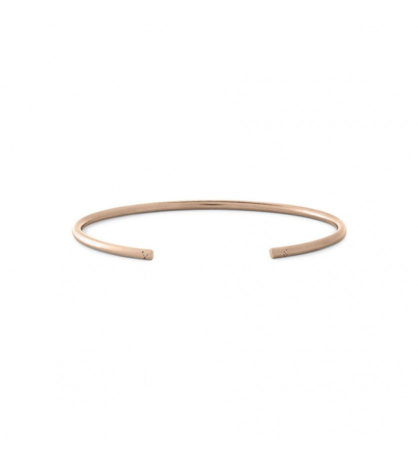 Bracelet Jonc 9 Grammes or rouge lisse brossé