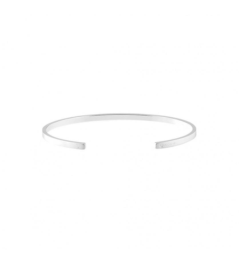 LE GRAMME Bracelet Ruban 7 Grammes argent lisse brossé Largeur 2.5 mm, taille M