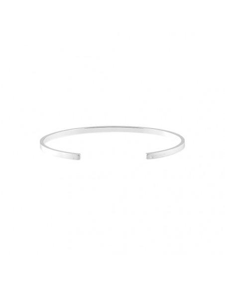 Bracelet RUBAN 7 Grammes argent lisse brossé Taille M