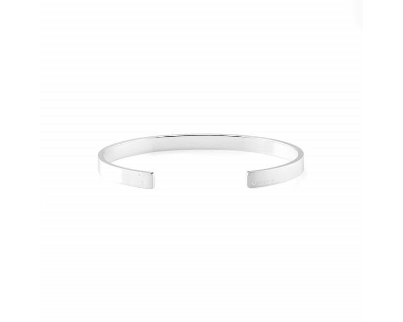 LE GRAMME Bracelet Ruban 15 Grammes argent lisse brossé Largeur 5 mm, taille L