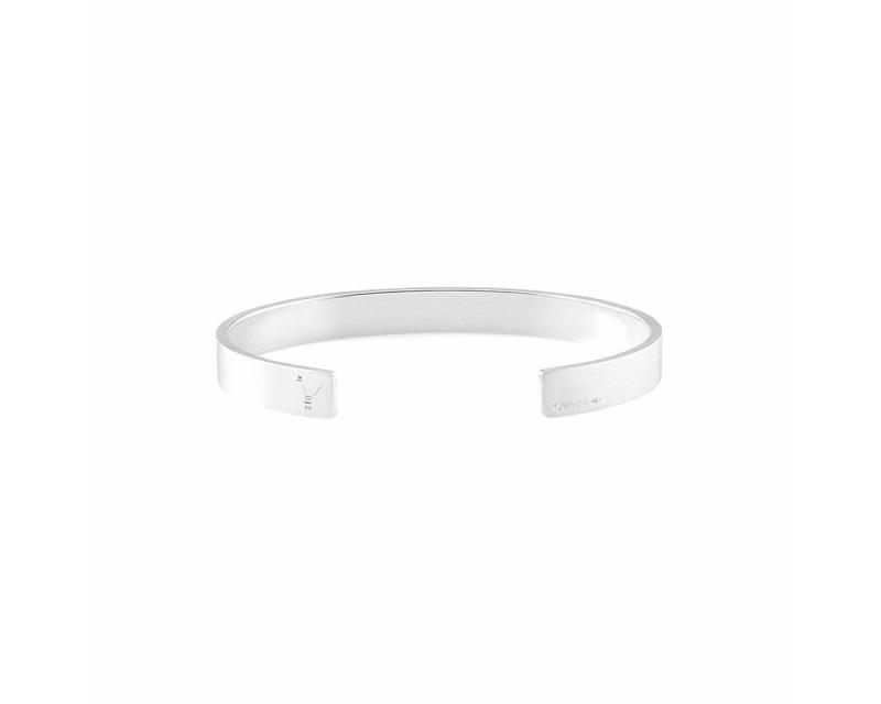 LE GRAMME Bracelet Ruban 21 Grammes argent lisse brossé Largeur 7 mm, taille S