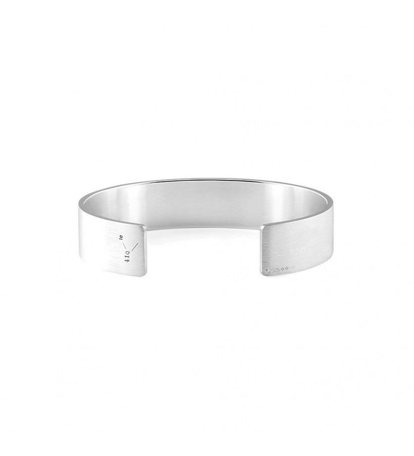 Bracelet Ruban 41 Grammes argent lisse brossé Taille M