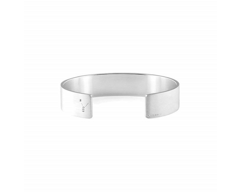 Bracelet Ruban 41 Grammes argent lisse brossé Largeur 13.5 mm, taille M