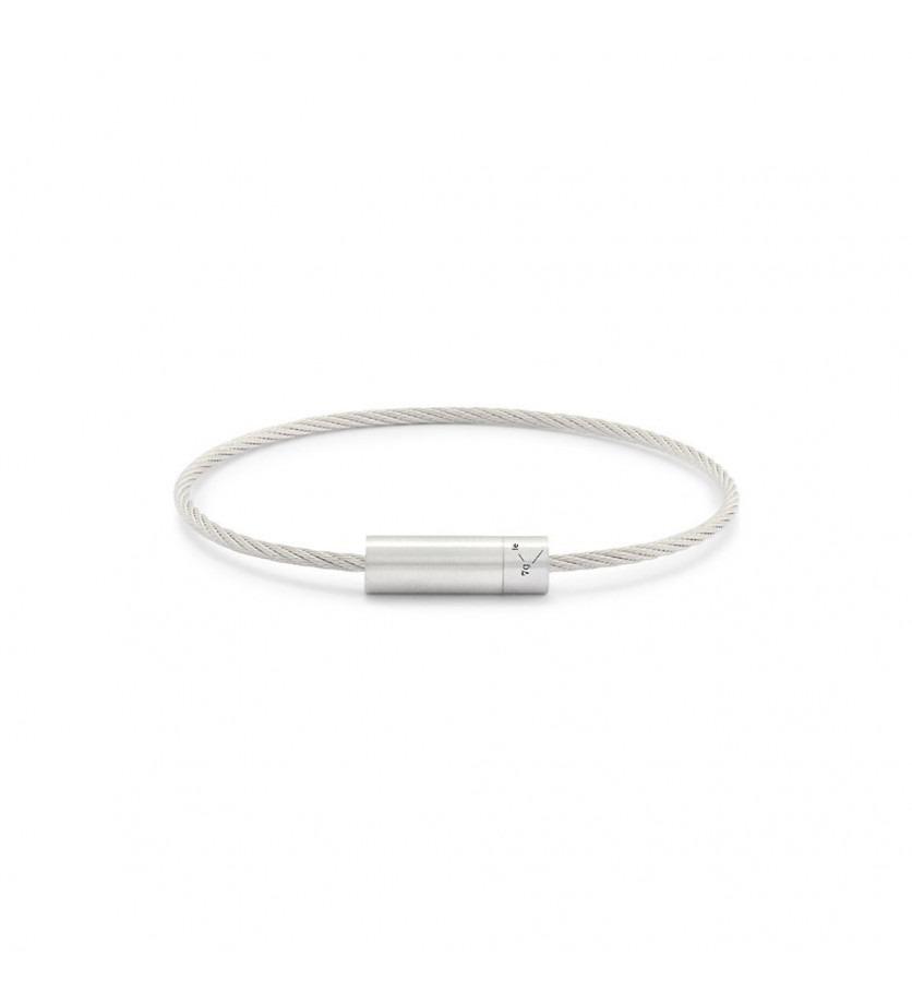 Bracelet CABLE 7 Grammes argent lisse brossé