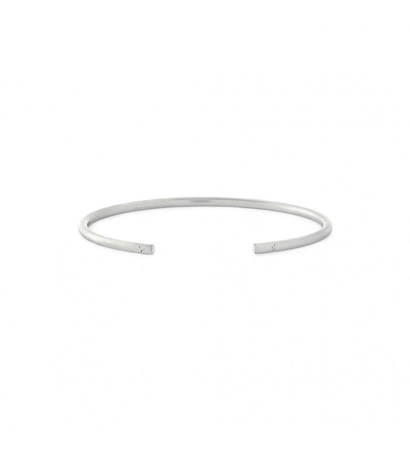 LE GRAMME Bracelet Jonc 7 Grammes argent lisse brossé Epaisseur 2.5 mm, taille M