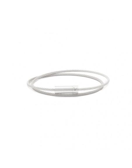 Bracelet Câble 9 Grammes double tour argent lisse brossé