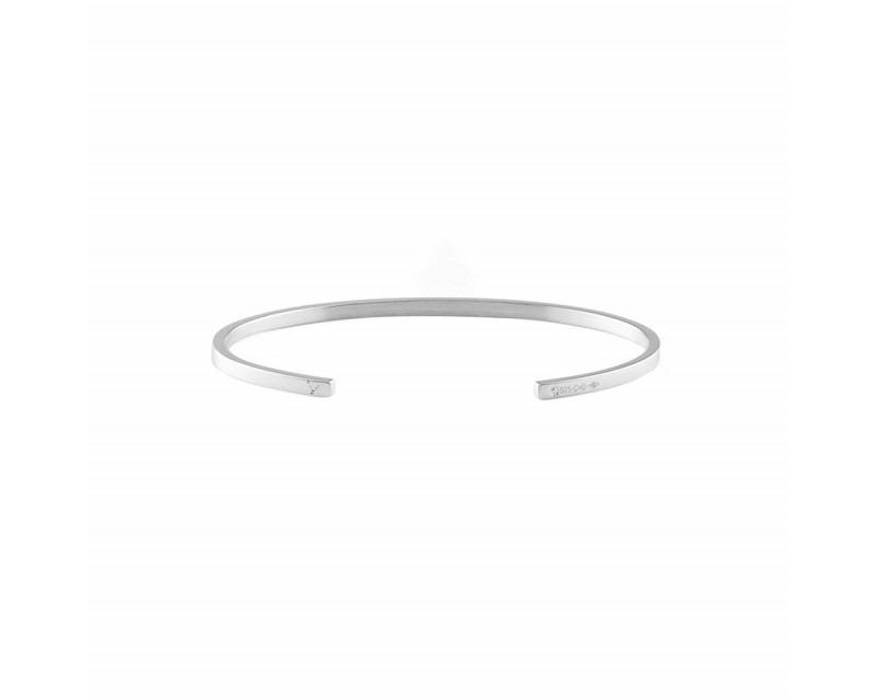 LE GRAMME Bracelet Ruban 7 Grammes argent lisse poli Largeur 2.5 mm, taille S