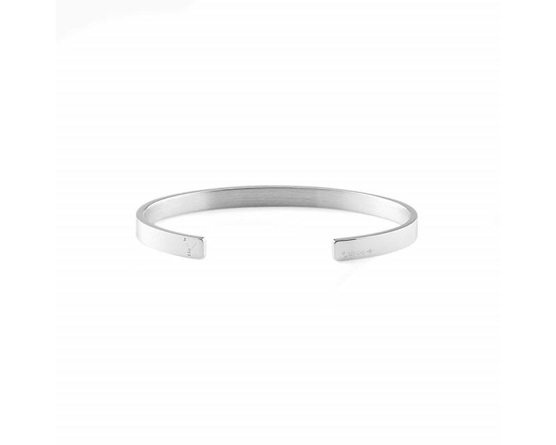LE GRAMME Bracelet Ruban 15 Grammes argent lisse poli Largeur 5 mm, taille S