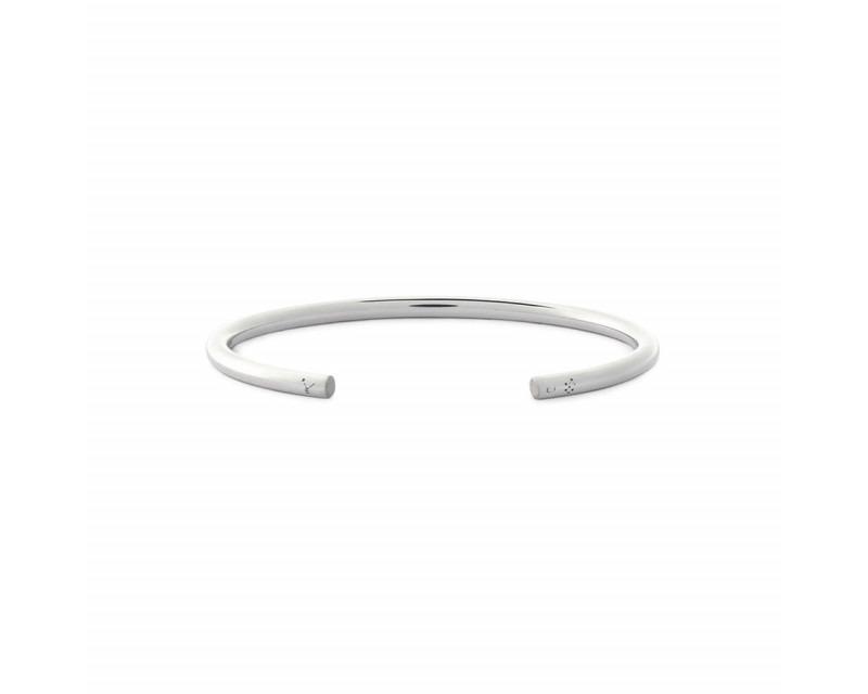 LE GRAMME Bracelet Jonc 15 Grammes argent lisse poli Epaisseur 3.5 mm, taille M
