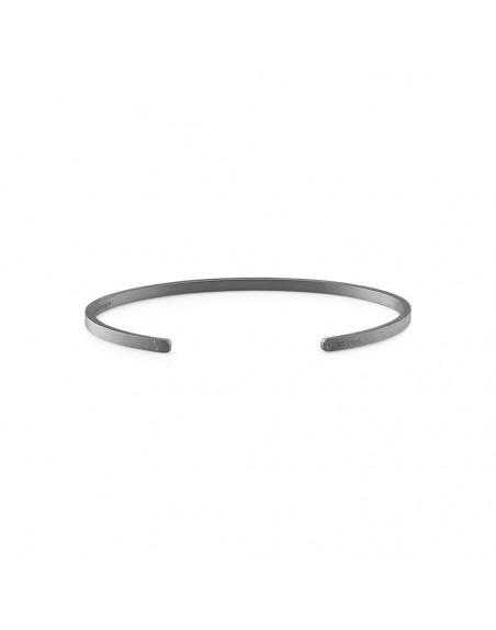 Bracelet Ruban 7 Grammes argent noir lisse brossé, taille L