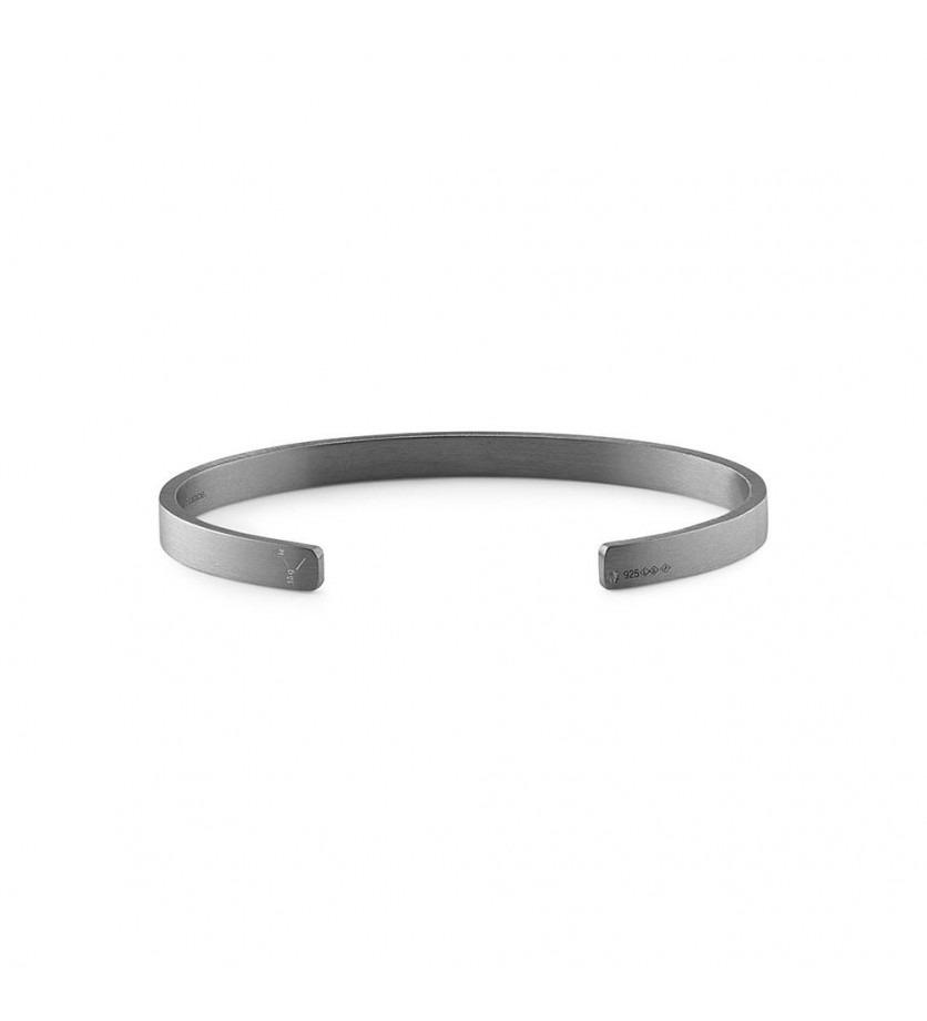 Bracelet Ruban 15 Grammes argent noir lisse brossé, taille M