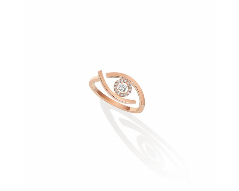 MESSIKA Bague Lucky Eye or rose diamants