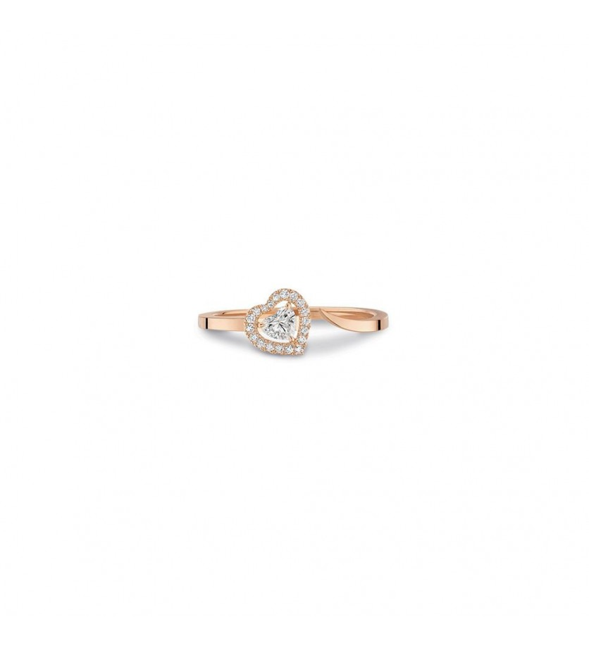 MESSIKA Bague Joy or rose diamant coeur 0,15ct