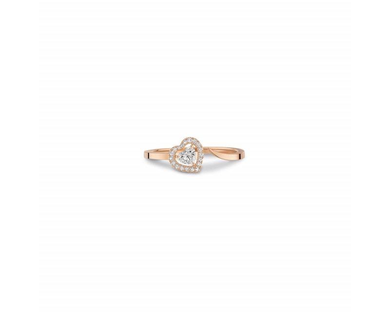 MESSIKA Bague Joy or rose diamant coeur 0,15ct