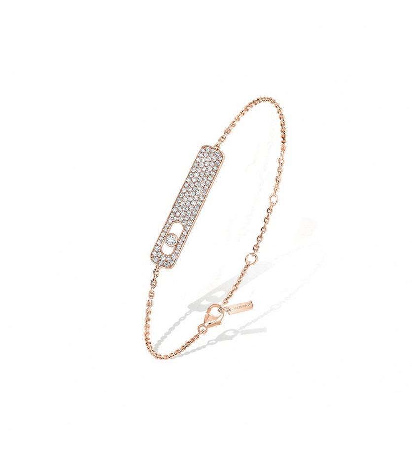Bracelet My First Diamond or rose pavée diamants