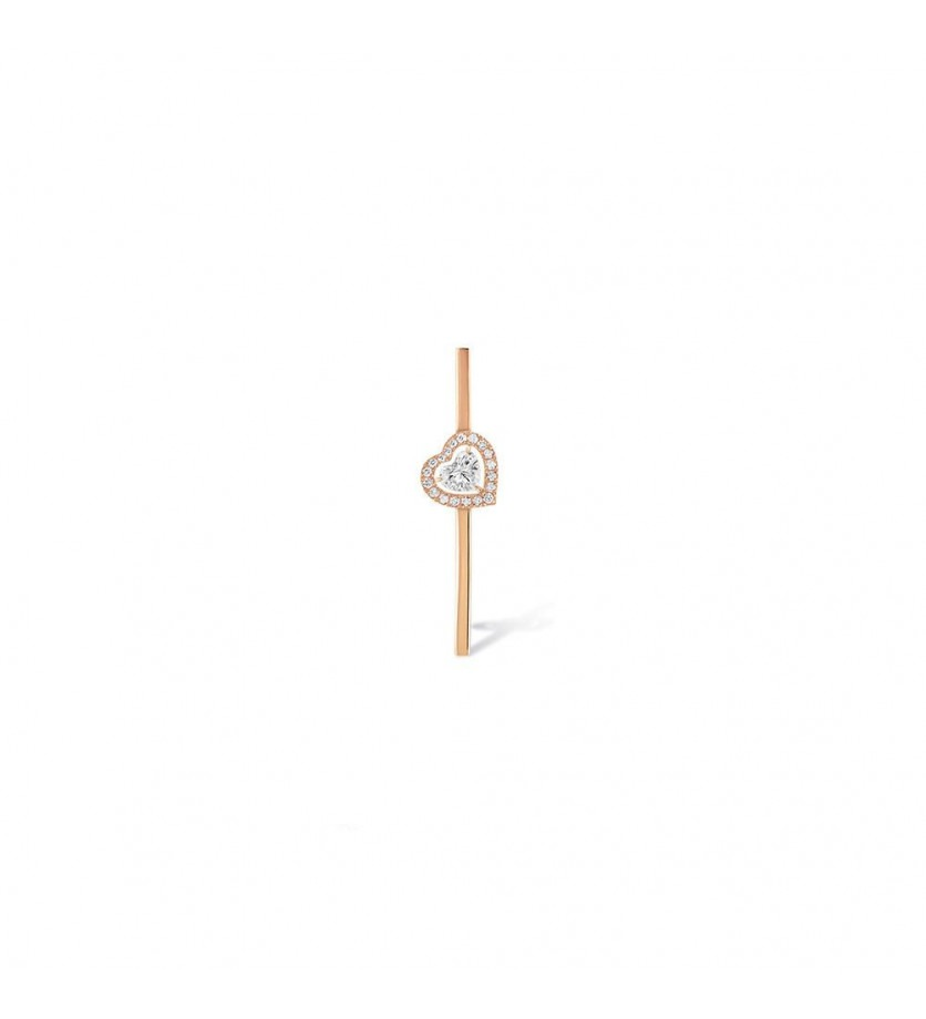 MESSIKA Mono boucle d'oreille Joy or rose diamant coeur 0,15ct diamants