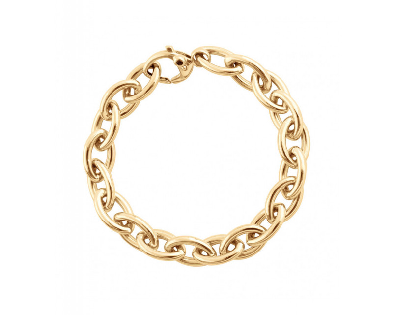 FROJO Bracelet mailles ovales alternées or jaune 20,5cm