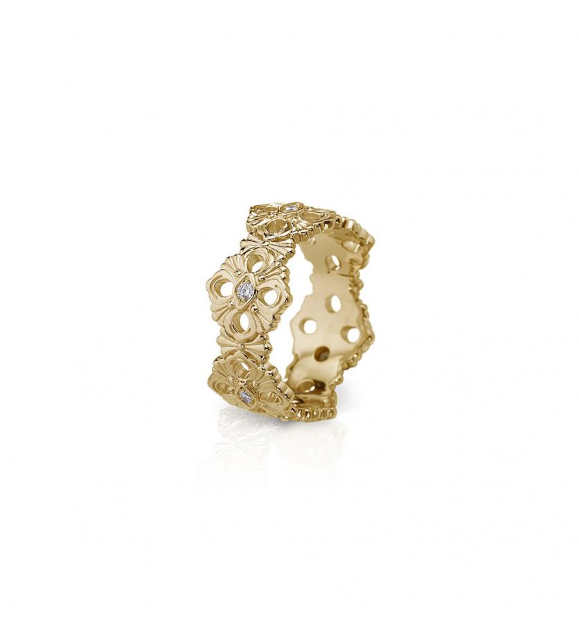 Bague Eternelle Opéra or jaune 6 diamants