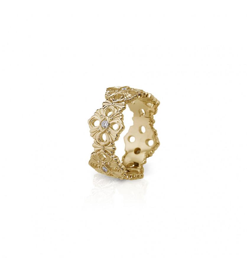 BUCCELLATI Bague Eternelle Opéra PM or jaune 6 diamants