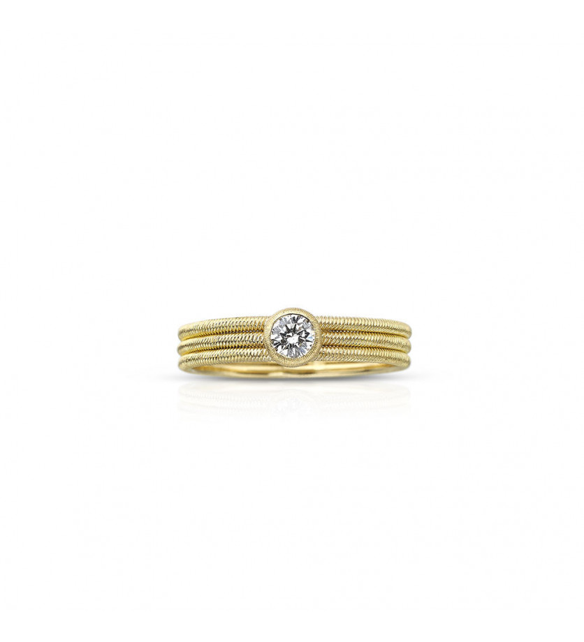 BUCCELLATI Bague jonc Hawaii or jaune diamant