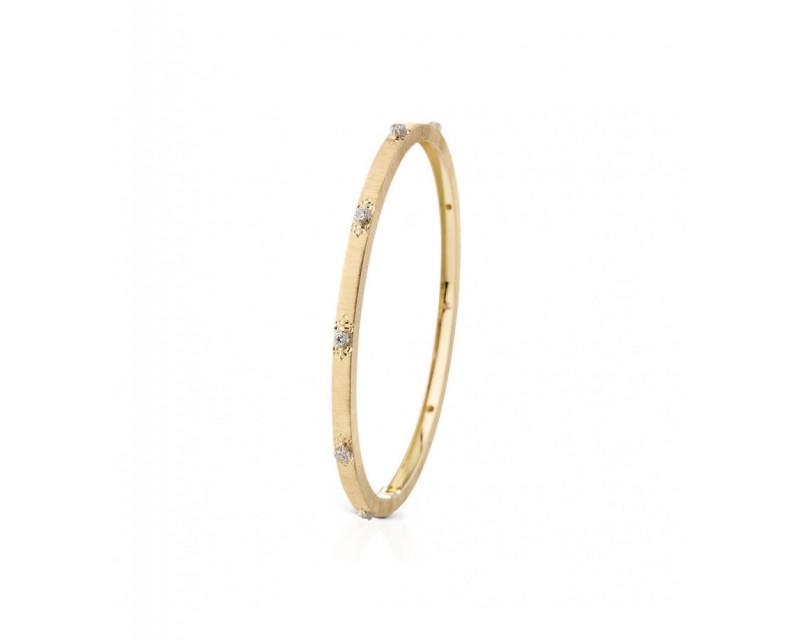 Bracelet Macri 3mm or jaune or gris