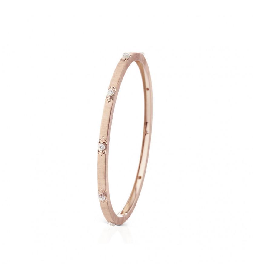 Bracelet Macri 3mm or rose or gris diamants