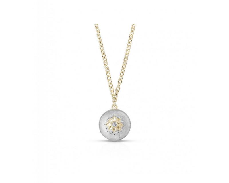 BUCCELLATI Pendentif Macri or gris or jaune diamant