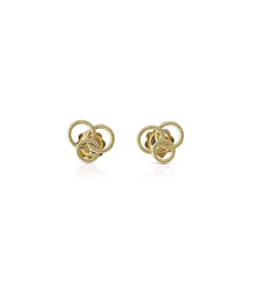 BUCCELLATI Puces d'oreille Hawaii or jaune