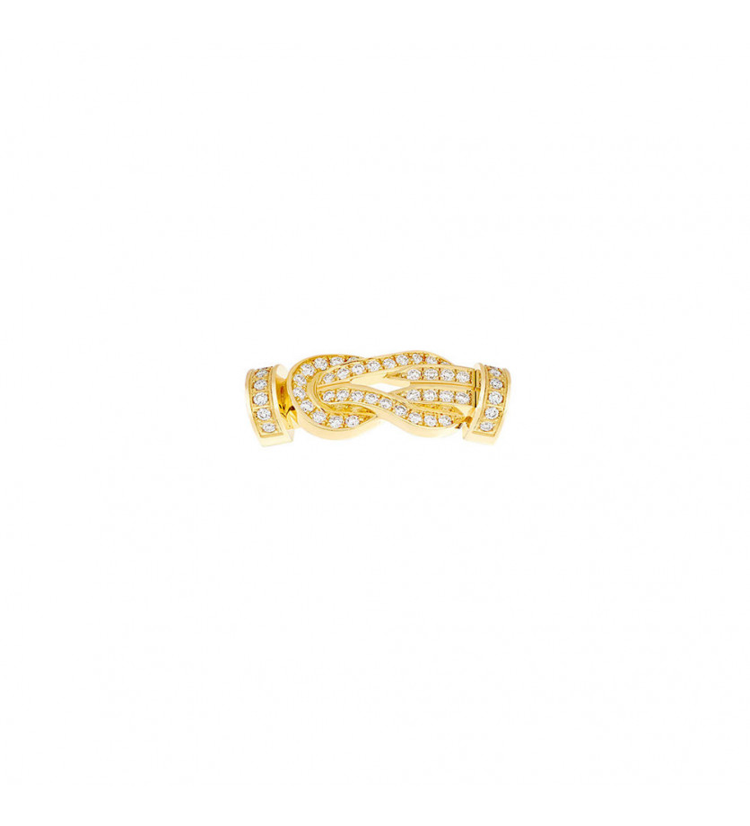 FRED Boucle 8°0 MM or jaune full pavé diamants