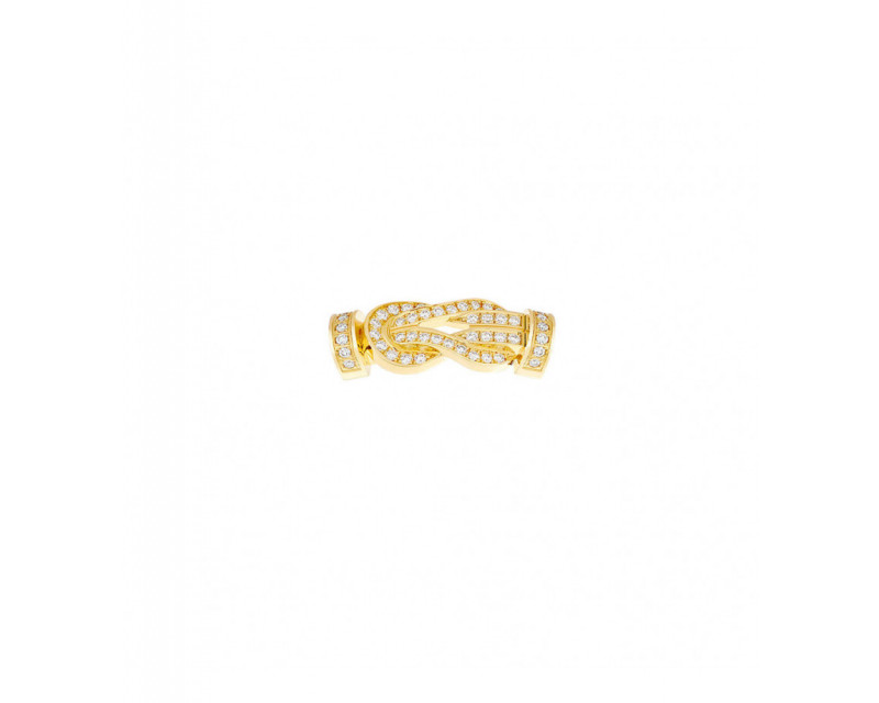 Boucle Chance Infinie MM or jaune full pavé diamants