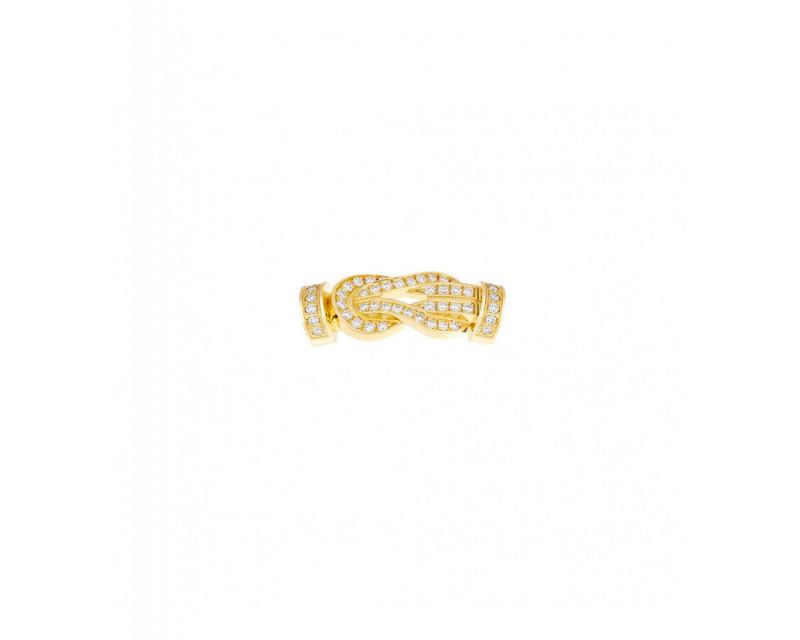 FRED Boucle 8°0 MM or jaune full pavé diamants