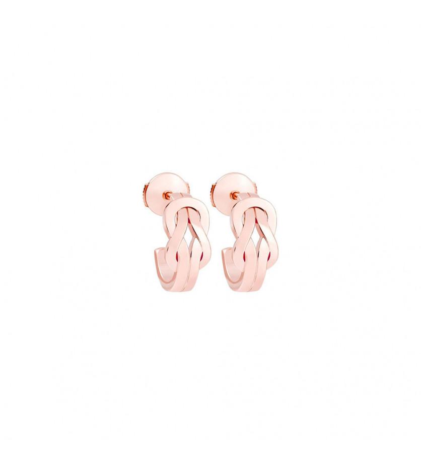 Boucles d'oreilles créoles Chance Infinie or rose