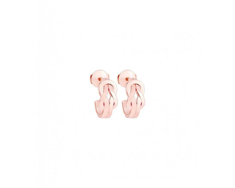 FRED Boucles d'oreilles créoles Chance Infinie or rose