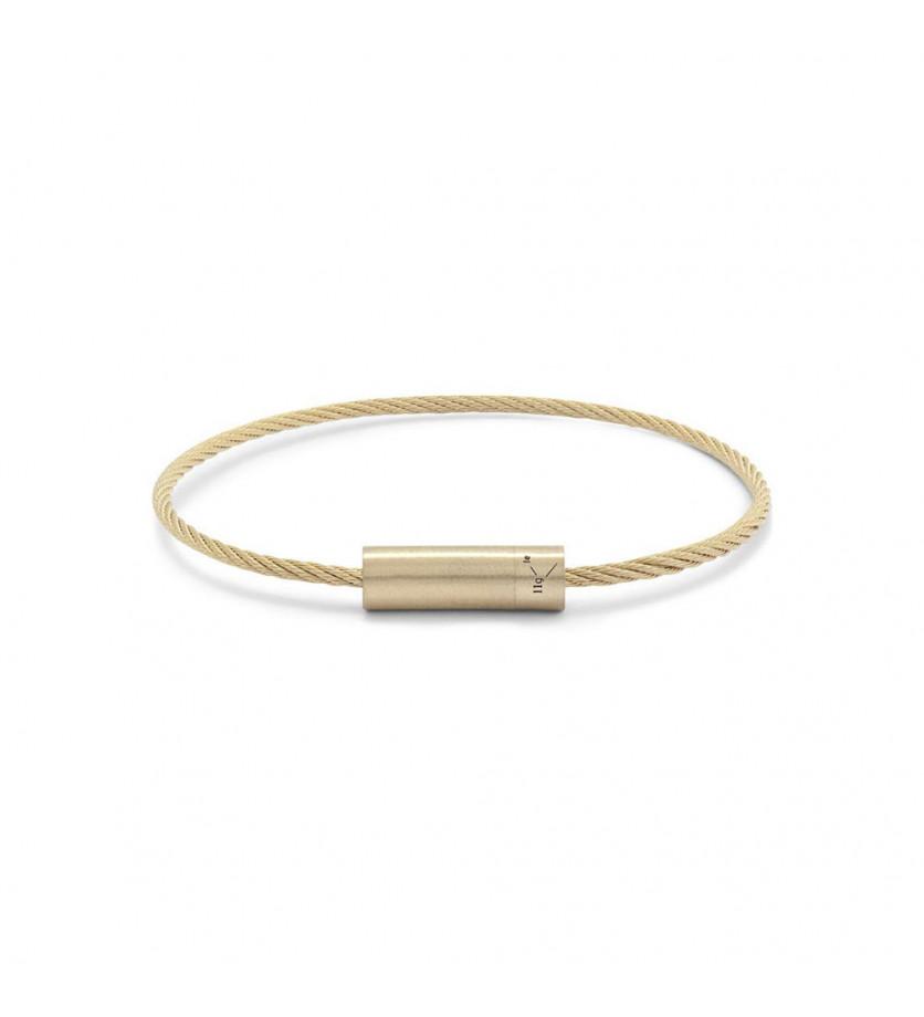 LE GRAMME Bracelet Câble 11 Grammes or jaune lisse brossé Diamètre fermoir 5.8 mm, diamètre câble 1.