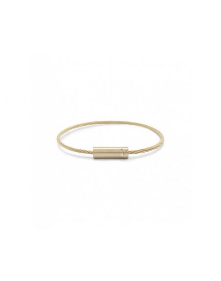 Bracelet Câble 11 Grammes or jaune lisse brossé