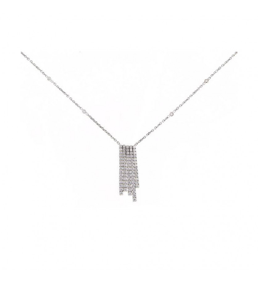 MESSIKA Pendentif Daria PM or gris diamants