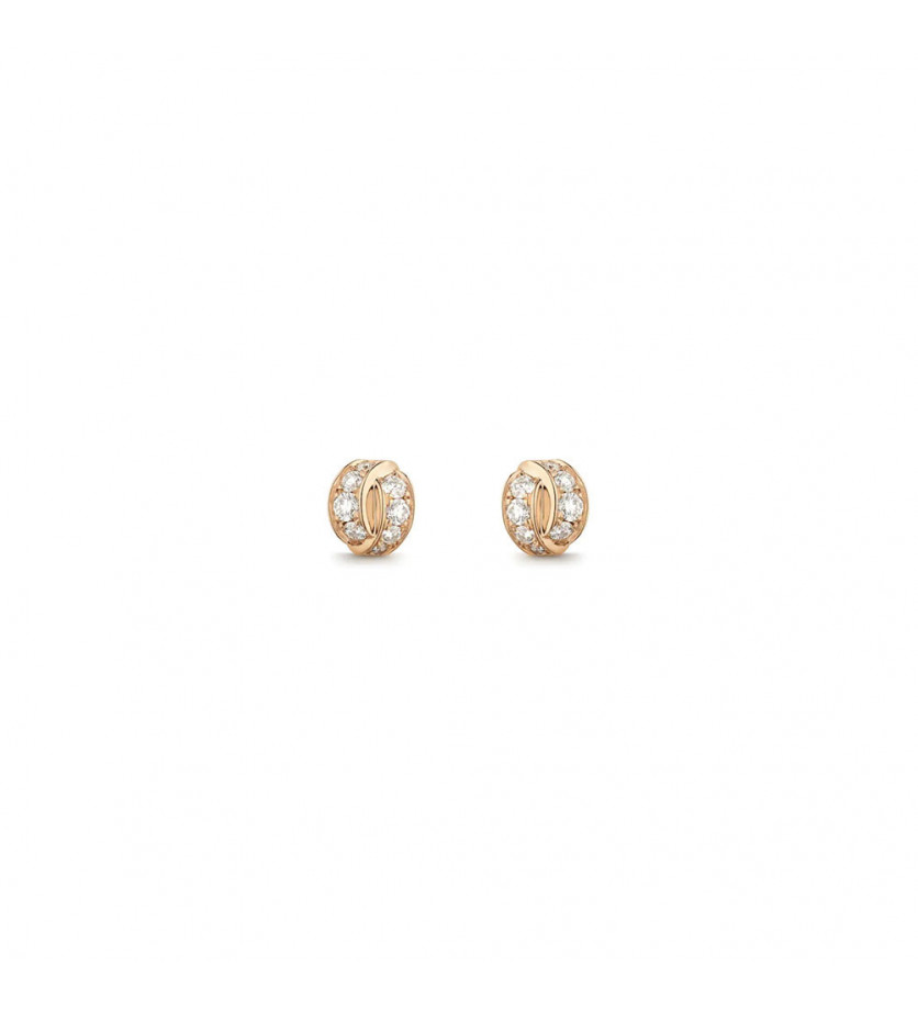 CHAUMET Puces d'oreille Liens Seduction or rose diamants