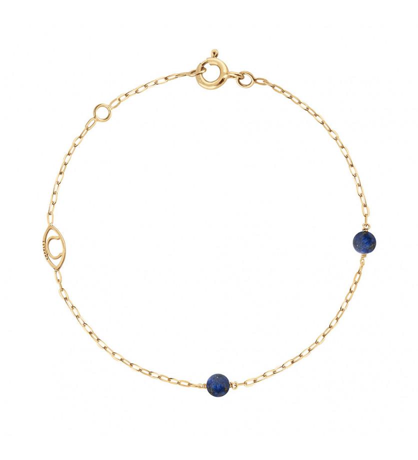 CHARLET Bracelet Massilia lapis lazuli or jaune