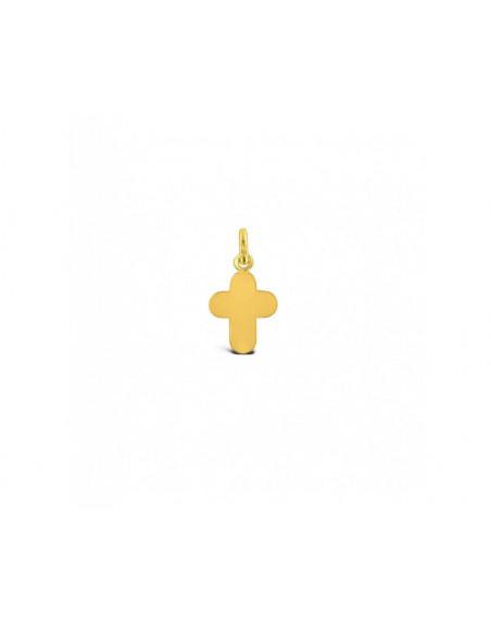 Croix arrondie PM or jaune